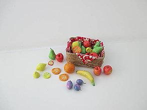 Dekorácie - MINI ovocie s košíčkom (pre Barbie) - 10496039_