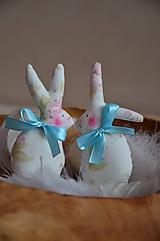 Dekorácie - Zajačiky - 10495695_