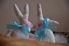 Dekorácie - Zajačiky - 10495696_