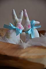 Dekorácie - Zajačiky - 10495700_