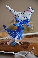 Dekorácie - Vtáčik na štipci - 10495820_