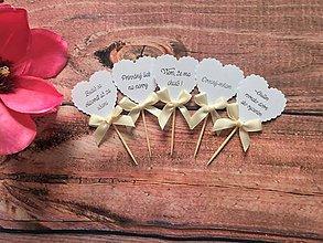 Dekorácie - Zapichovatká do koláčov Heart - 10494004_