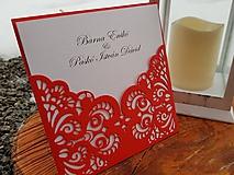 Papiernictvo - Svadobné oznámenie romantická čipka - 10494168_