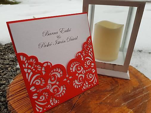 Svadobné oznámenie romantická čipka