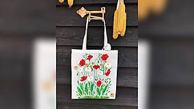Iné tašky - ♥ Plátená, ručne maľovaná taška ♥ - 10494721_
