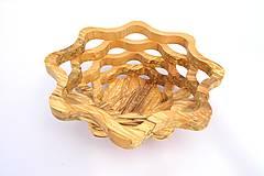 Nádoby - Drevená miska 23cm špaltovaná jelša - 10493875_