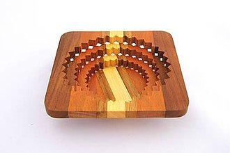 Nádoby - Drevená miska 15cm - 10493819_