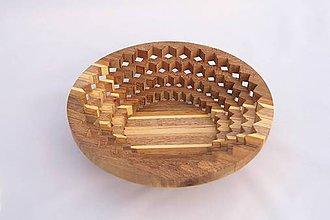 Nádoby - Drevená miska 22cm - 10494122_
