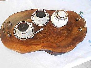 Nádoby - luxusný drevený podnos ORECH - 10494264_