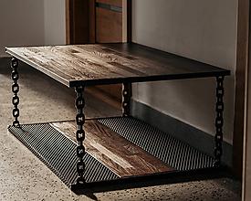 Nábytok - Štýlový industriálny stôl - 10496308_
