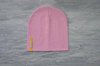 Detské súpravy - Set čiapka s menom + nákrčník Elastic- 21 odtieňov (žltý štítok) - 10495242_