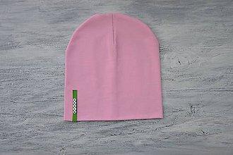 Detské súpravy - Set čiapka s menom + nákrčník Elastic- 21 odtieňov (zelený  štítok) - 10495267_