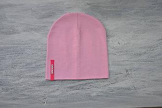 Detské súpravy - Set čiapka s menom + nákrčník Elastic- 21 odtieňov (sýtoružový  štítok) - 10495268_