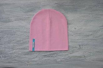 Detské súpravy - Set čiapka s menom + nákrčník Elastic- 21 odtieňov (tyrkisový  štítok) - 10495270_