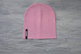 Detské súpravy - Set čiapka s menom + nákrčník Elastic- 21 odtieňov (čierny  štítok) - 10495272_