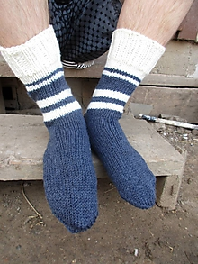 Obuv - námornícke ponožky č.42-44 - 10494103_
