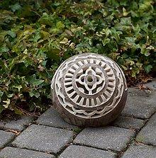 Svietidlá a sviečky - záhradná guľa - svietnik - 10494132_