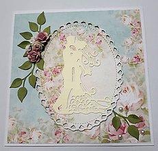 Papiernictvo - Svadobná pohľadnica - 10495875_