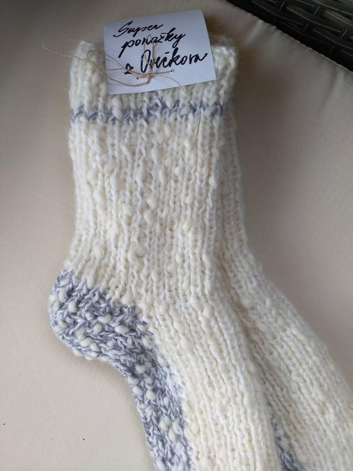 64a8b1e42 Super ponožky / oveckovo - SAShE.sk - Handmade Obuv