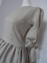 Šaty - Ľanové šaty - 10496294_