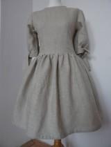Šaty - Ľanové šaty - 10496295_