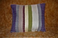 Úžitkový textil - Tkaná obliečka na vankúš - 10496574_