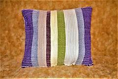Úžitkový textil - Tkaná obliečka na vankúš - 10496577_
