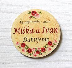 Darčeky pre svadobčanov - Svadobná magnetka - 10497628_