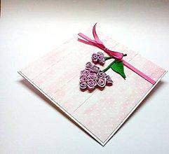 Papiernictvo - Pohľadnica ... ružový ker - 10499257_