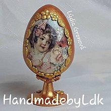 Dekorácie - Vintage vajíčko so stojanom - 10498576_