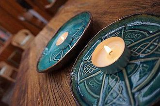 Svietidlá a sviečky - Keltský svietnik - 10496805_