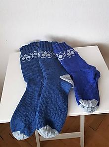 Obuv - Ponožky folklórne dámske- certifikovaná ponožková priadza - 10499021_