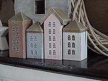 Sada vintage domčekov