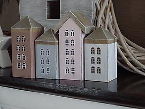 Dekorácie - Sada vintage domčekov - 10497866_