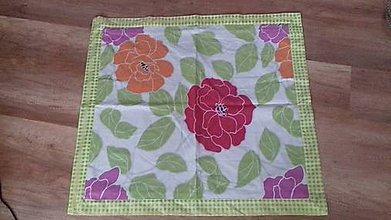 Úžitkový textil - Obrus so zeleným lemom - 10496945_