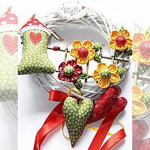 Dekorácie - Venček na dvere - Lúka poľných kvetov 3 - 10497176_