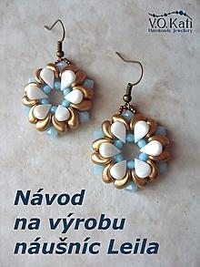Návody a literatúra - Návod na výrobu náušníc Leila - 10498491_