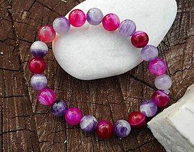 Náramky - violet and dark pink...ametyst,achát - 10500143_
