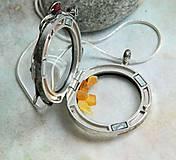 Náhrdelníky - Otevírací medailon s akvamaríny - 10498854_