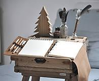 Papiernictvo - Kombinovaný kožený zápisník BAUDIER - 10497747_