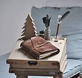 Papiernictvo - Kombinovaný kožený zápisník BAUDIER - 10497748_