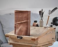 Papiernictvo - Kombinovaný kožený zápisník BAUDIER - 10497755_