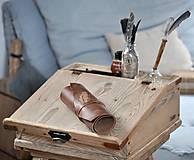 Papiernictvo - kožený rolovací peračník KAYSA - 10497807_
