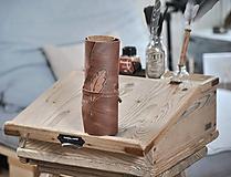 Papiernictvo - kožený rolovací peračník KAYSA - 10497822_