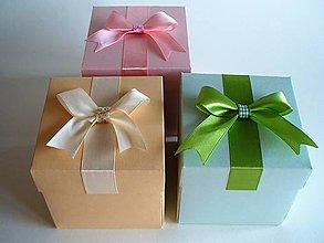 Krabičky - darčeková krabička (exploding) broskyňová - 10497798_