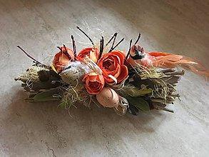 Dekorácie - Jarná viazanička s vtáčikom - 10498262_