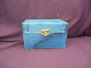 Krabičky - drevenná šperkovnička - dekupáž - denim - 10497949_