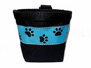 Pre zvieratká - Pamlskovník Psie labky na modrej - 10497073_