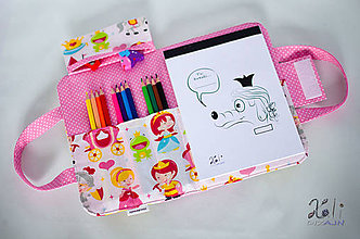 Detské tašky - Detský kufrík - pastelkovník Princezná (vrátane vnútorného vybavenia) - 10499103_