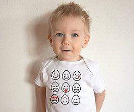 Detské oblečenie - body veľkonoční smajlíci - 10499922_